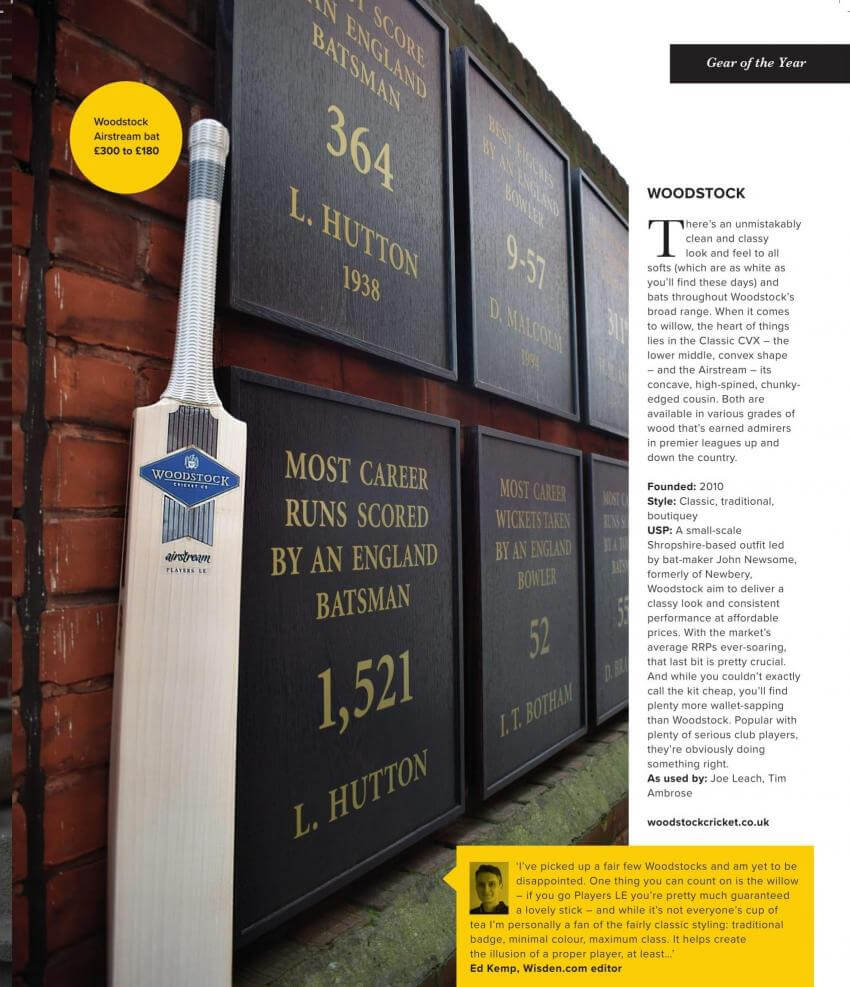 Woodstock Cricket review in Wisden Cricket Monthly March 2018